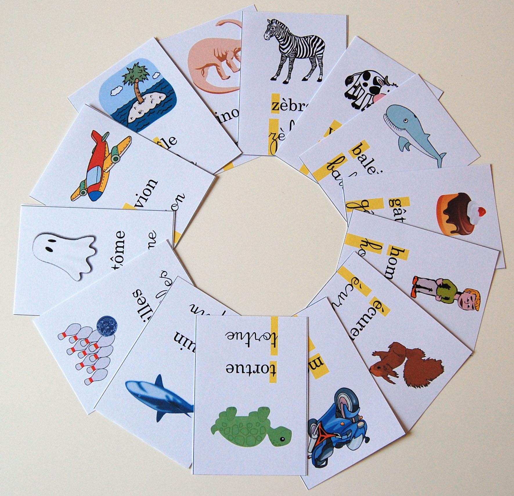 Jeu pour apprendre à lire : Mistigri de l'alphabet