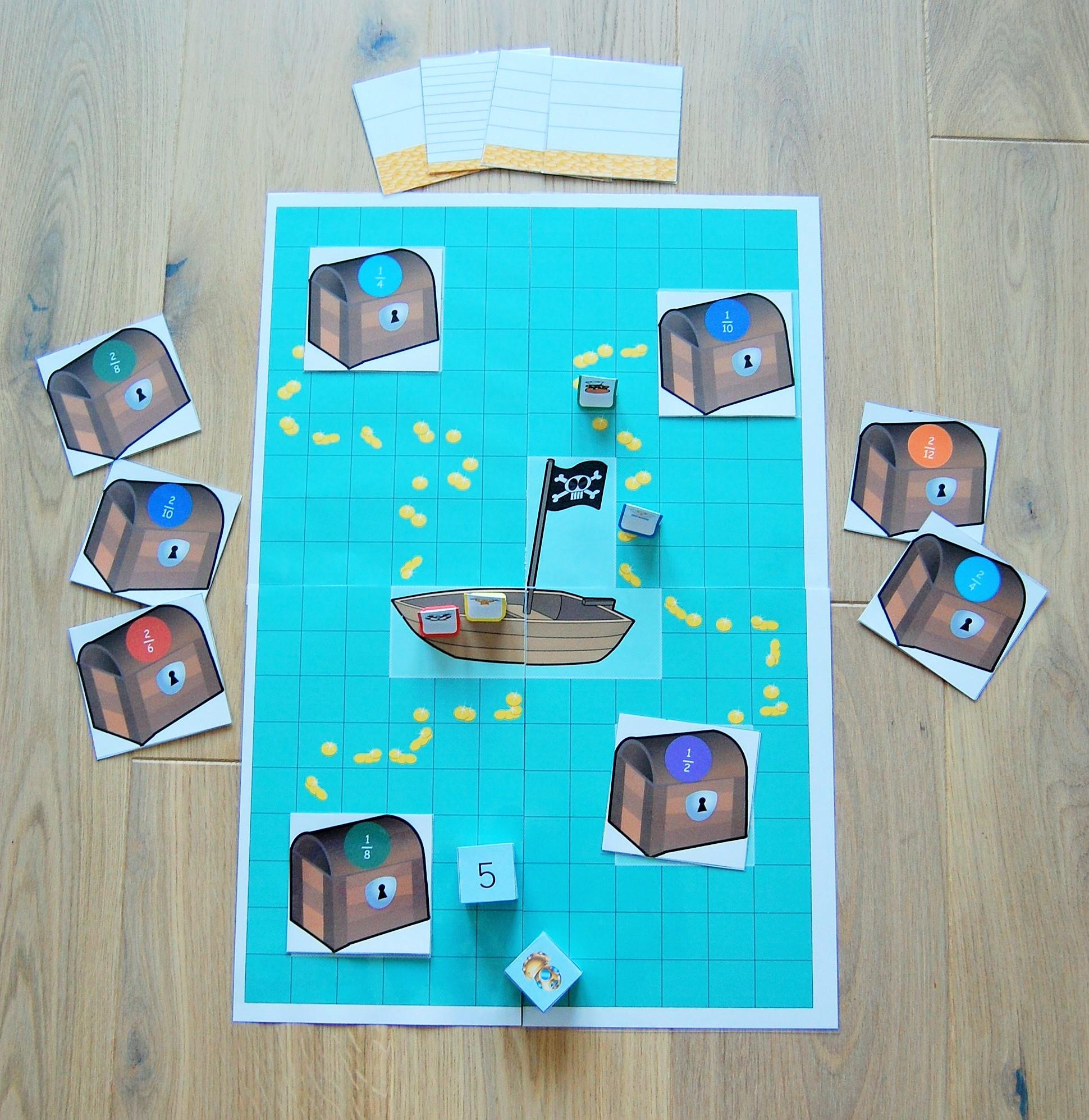 jeu pour compter_l'or des pirates
