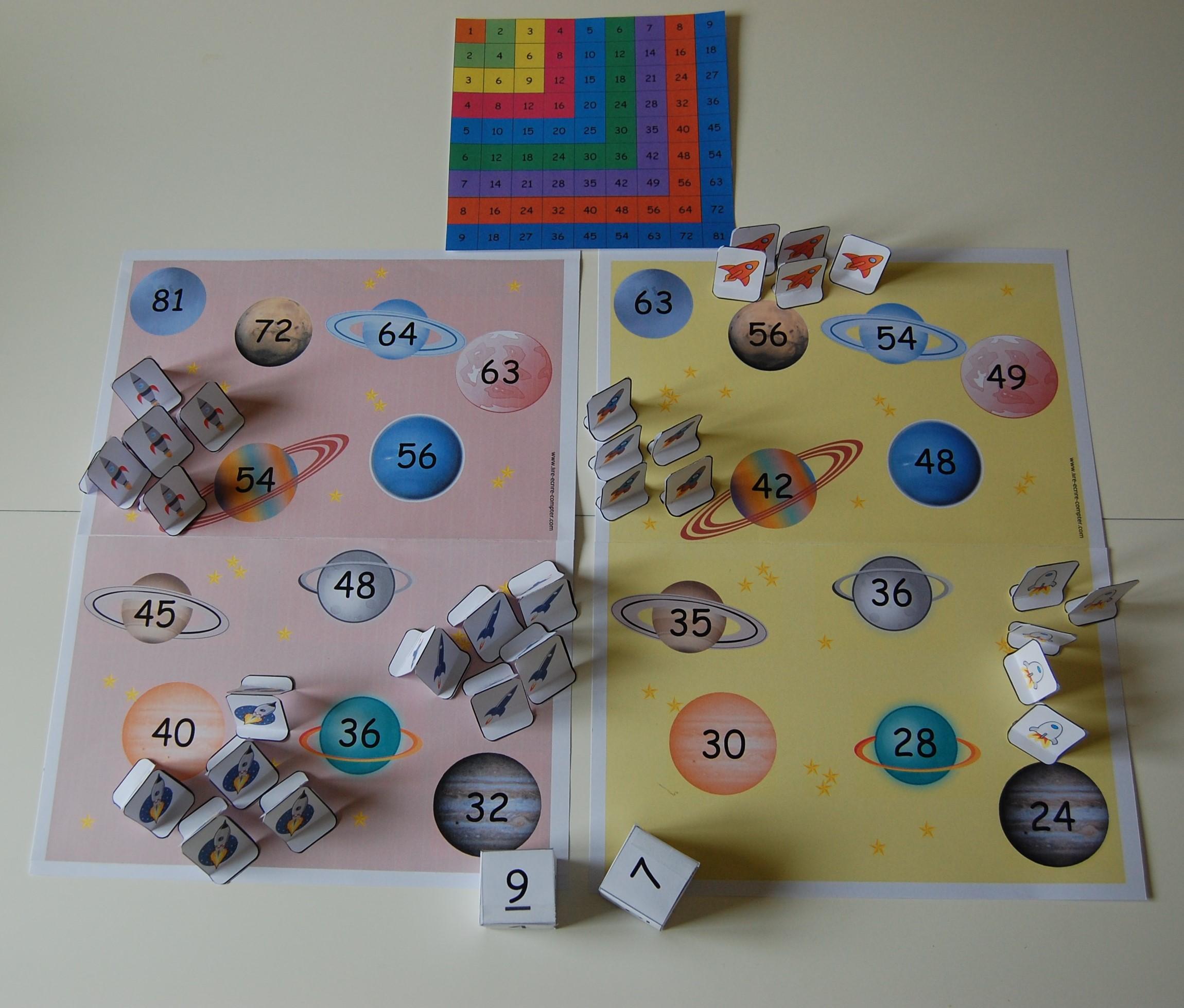 jeu pour compter : Galaxie Multiplic 2 et 3