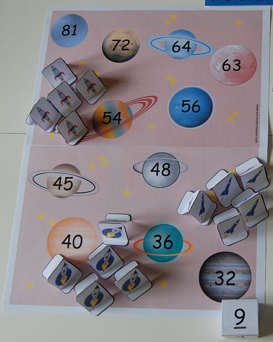jeu pour compter : Galaxie Multiplic3