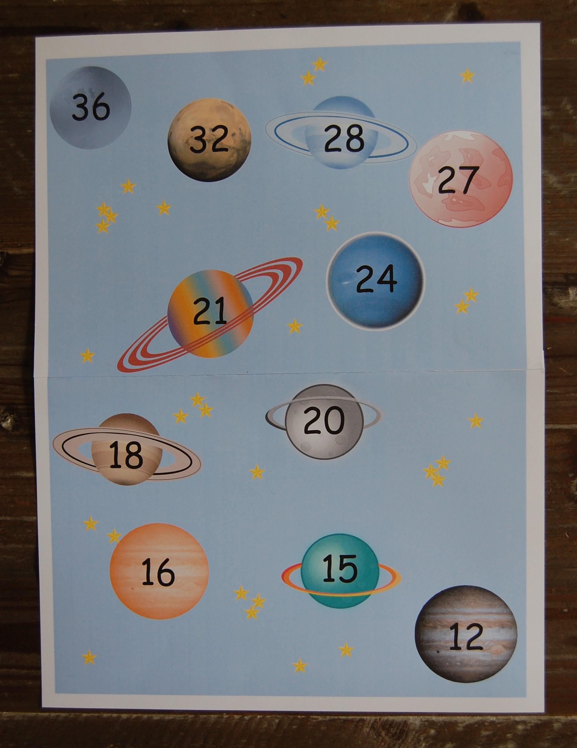 jeu pour compter : La Galaxie Multiplic