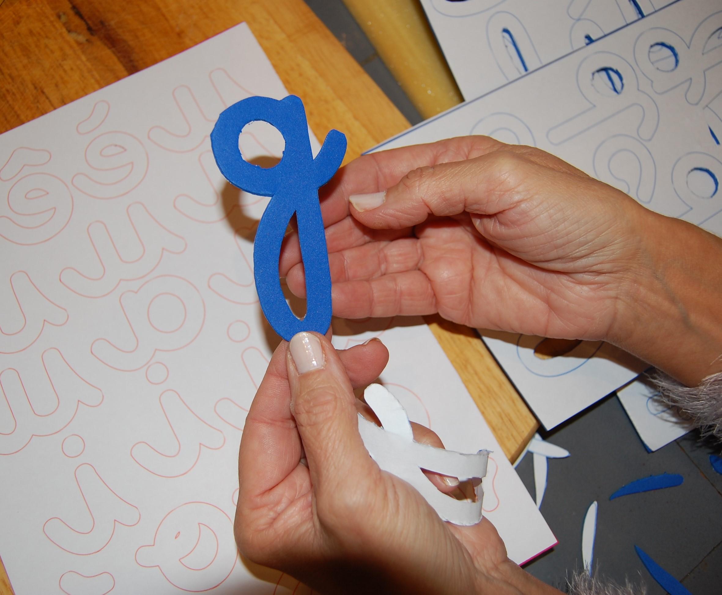 lettres mobiles cursives