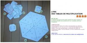Lynx des tables de multiplication