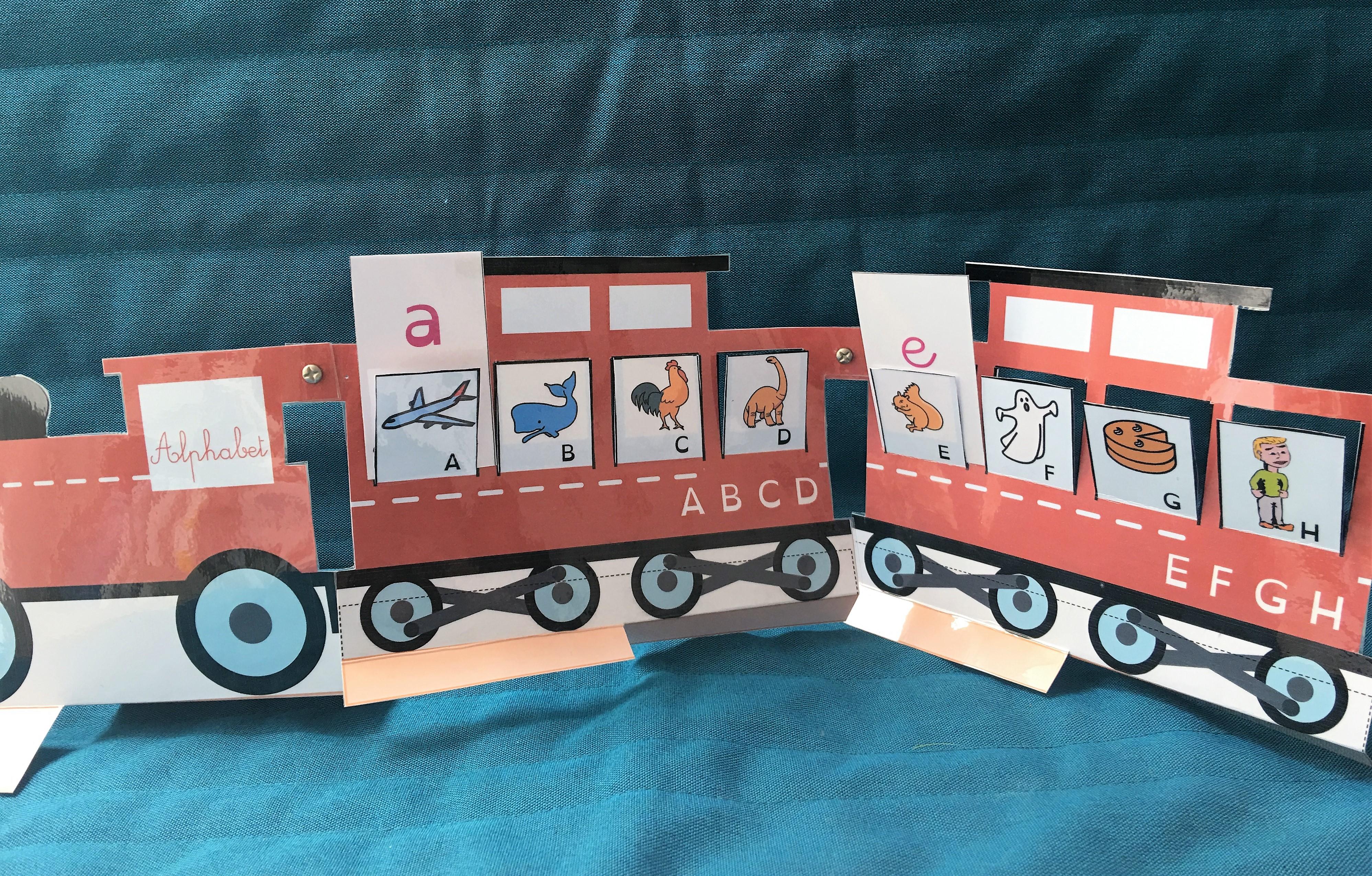 Le train de l'alphabet