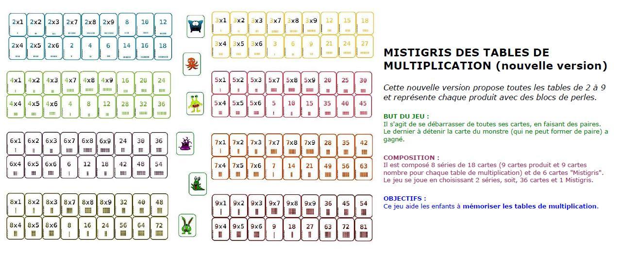 Jeux pour apprendre compter lire crire compter for Table de multiplication jeux