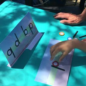 Étayages lettres symétriques